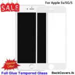 iPhone 5G / 5 G / 5S / 5 S / 5 5D Tempered Glass / Screen Protector – White
