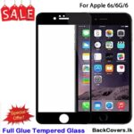 iPhone 6G / 6 G / 6S / 6 S / 6 5D Tempered Glass / Screen Protector – Black