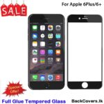 iPhone 6Plus / 6 Plus / 6+ / 6 + 5D Tempered Glass / Screen Protector – Black