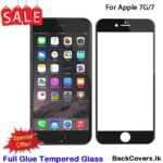 iPhone 8G / 8 G / 7G / 7 G  5D Tempered Glass / Screen Protector – Black