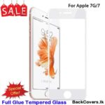 iPhone 8G / 8 G / 7G / 7 G  5D Tempered Glass / Screen Protector – White