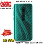 Redmi 8 / MI 8 Back Sticker / Carbon Fiber Screen Protector
