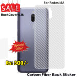 Redmi 8A / MI 8A / 8 A Back Sticker / Carbon Fiber Screen Protector