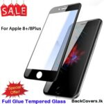 iPhone 8Plus / 8 Plus / 8+ / 8 + 5D Tempered Glass / Screen Protector – Black