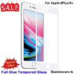iPhone 8Plus / 8 Plus / 8+ / 8 + 5D Tempered Glass / Screen Protector – White
