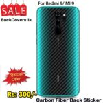 Redmi 9 / MI 9 Back Sticker / Carbon Fiber Screen Protector
