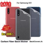 Samsung A01 / A 01 Back Sticker / Carbon Fiber Screen Protector