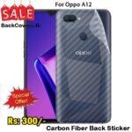 Oppo A12 / A 12 Back Sticker / Carbon Fiber Screen Protector