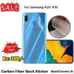 Samsung A20 / A 20 / A30 / A 30 Back Sticker / Carbon Fiber Screen Protector