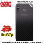 Samsung A20s / A20 s / A 20s Back Sticker / Carbon Fiber Screen Protector