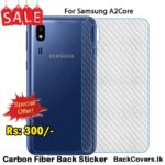 Samsung A2Core / A2 Core / A 2Core Back Sticker / Carbon Fiber Screen Protector