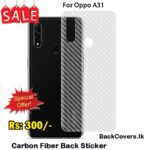 Oppo A31 / A 31 Back Sticker / Carbon Fiber Screen Protector