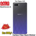 Oppo A3S / A 3S / A3 S Back Sticker / Carbon Fiber Screen Protector