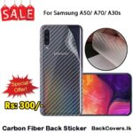 Samsung A50 / A70 / A30s / A 50 / A 70 / A 30s Back Sticker / Carbon Fiber Screen Protector