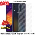 Samsung A50s / A50 s / A 50s Back Sticker / Carbon Fiber Screen Protector