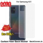 Samsung A51 / A 51 Back Sticker / Carbon Fiber Screen Protector