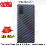 Samsung A71 / A 71 Back Sticker / Carbon Fiber Screen Protector
