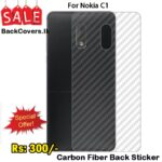 Nokia C1 / C1 / C 1 Back Sticker / Carbon Fiber Screen Protector