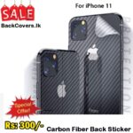 iPhone 11 / 11 Back Sticker / Carbon Fiber Screen Protector