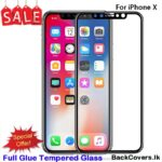 iPhone X / X 5D Tempered Glass / Screen Protector – Black