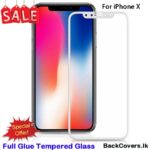iPhone X / X 5D Tempered Glass / Screen Protector – White