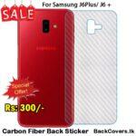 Samsung J6Plus / J6 Plus / J 6Plus / J6 + Back Sticker / Carbon Fiber Screen Protector