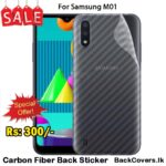 Samsung M01 / M 01 Back Sticker / Carbon Fiber Screen Protector