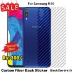 Samsung M10 / M 10 Back Sticker / Carbon Fiber Screen Protector