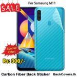Samsung M11 / M 11 Back Sticker / Carbon Fiber Screen Protector