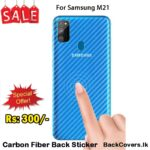 Samsung M21 / M 21 Back Sticker / Carbon Fiber Screen Protector