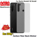 Redmi Note 8 / MI Note8 Back Sticker / Carbon Fiber Screen Protector