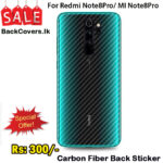 Redmi Note8Pro / MI Note8Pro / Note8 Pro / Note 8 Pro Back Sticker / Carbon Fiber Screen Protector