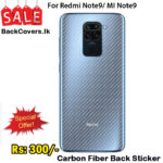 Redmi Note 9 / MI Note9 Back Sticker / Carbon Fiber Screen Protector