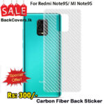 Redmi Note9s / MI Note9s / Note9 s / Note 9s Back Sticker / Carbon Fiber Screen Protector