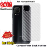 Huawei Nova 7i / Nova 7i Back Sticker / Carbon Fiber Screen Protector
