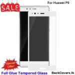 Huawei P9 / P 9 / P9 5D Tempered Glass / Screen Protector  – White