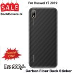 Huawei Y5 2019 / Y 5 19 / Y5 19 Back Sticker / Carbon Fiber Screen Protector