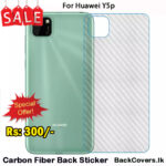 Huawei Y5p / Y5 p / Y 5p Back Sticker / Carbon Fiber Screen Protector