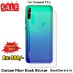 Huawei Y7p / Y7 p / Y 7p Back Sticker / Carbon Fiber Screen Protector