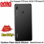 Huawei Y7Prime 2019 / Y7Prime 19 / Y7 Prime 19 Back Sticker / Carbon Fiber Screen Protector
