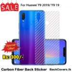 Huawei Y9 2019 / Y 9 19 / Y9 19 Back Sticker / Carbon Fiber Screen Protector