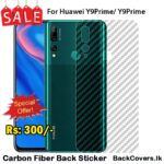 Huawei Y9Prime 2019 / Y9Prime 19 / Y9 Prime 19 Back Sticker / Carbon Fiber Screen Protector