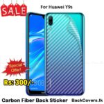 Huawei Y9s / Y 9s / Y9 s Back Sticker / Carbon Fiber Screen Protector