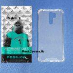 Redmi 9 / 9 ANTI-BURST Case / High Quality Transparent Back Cover / Clear Phone Case / TP Phone Cover